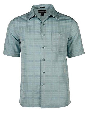 Weekender - Amelia Island, Jade Colored Matched Pocket, Square Hem Casual Shirt