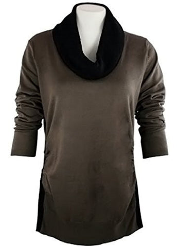 FX Fusion Knits - Woodstock & Black Top Ribbed Sides & Two Tone Color Block