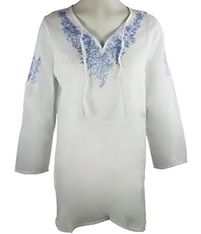 Nomadic Traders - Embroidered Tunic, Knitted Accents on Tie and Tunic
