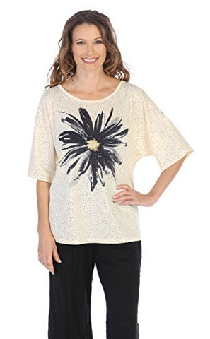 Jess & Jane Freshia, Peek-a-Boo, Cold Shoulder, Scoop Neck Sequined Fashion Top