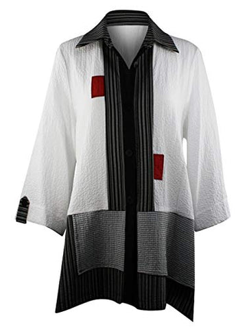 Moonlight - Hidden Button Spread Neck Asian Style Women's Fashion Jacket