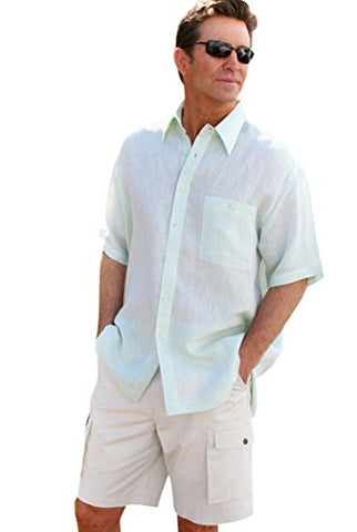Weekender Sea Foam Pavilion, Short Sleeve, Button Pocket, Casual Shirt