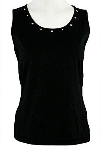 Christine Alexander - Crystal Ring, Scoop Neck Tank Top with Swarovski Crystals