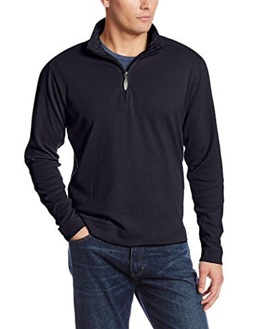 Reyn Spooner - Pumehana, Navy Men's Zip Neck Lightweight Casual Pullover