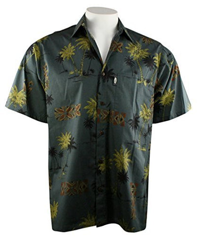 Go Barefoot - Coco Palms, Classic Hawaiian Shirt Banded Collar Side Vents & Coconut Buttons