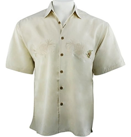 Bamboo Cay - Pineapple Island's Tropical Style Embroidered Shirt