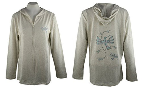 Cactus Bay Apparel - Native Hummingbird, Long Sleeve, Rhinestone Cotton Hoodie