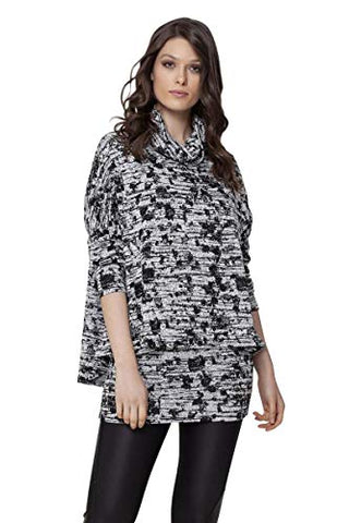 Isle Apparel - Merchants, 3/4 Sleeve, Cowl Neck Ladies Double Layer Trendy Tunic Top