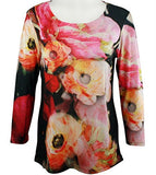 Impulse California - Color Burst, Womens Top with Subtle Rhinestone Accents