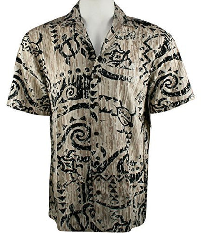 RJC Kalaheo Hawaii Symbols Single Pocket Classic Hawaiian Button Front Casual Tropical Shirt