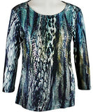 Impulse California - Textured Stems, Women's Top with Subtle Mini Sequin Accents