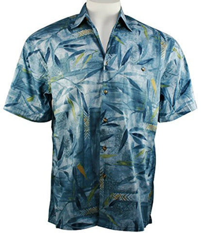 Bamboo Cay - Bamboo Island, Men's Tropical Style Lightweight Cotton Lawn Shirt