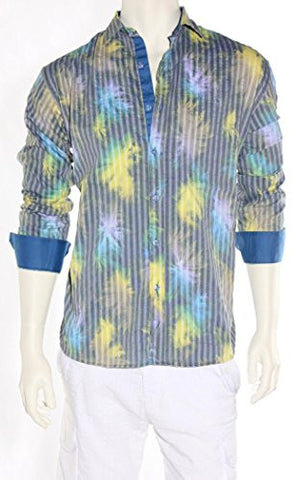Envy Evolution Multicolored Button Front Colored Cuff Lightweight Men's Shirt