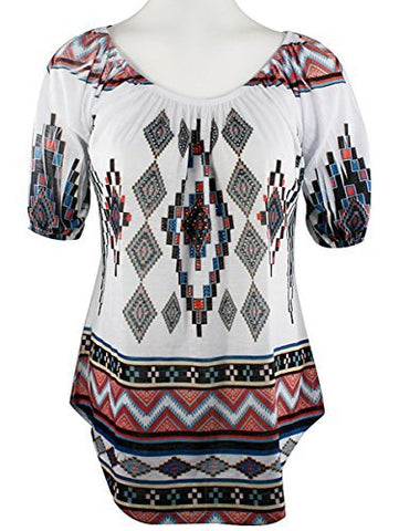 Big Bang Clothing SW Designs, Short Sleeve, Rhinestone Southwest Themed Print