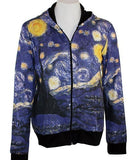 Breeke & Company Starry Night Hand Silk-Screened, Cotton Micro Blend Hoodie