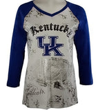 P-Michael Collegiate Top - U of Kentucky Top, School Colors, School Name in Foil