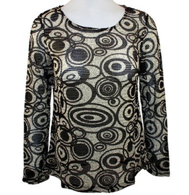 AZI Jeans - Forwear New York Apparel Scoop Neck, Herringbone Swirl Print Tunic