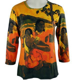 Breeke & Company Gauguin - Natives Cotton Micro Blend Top