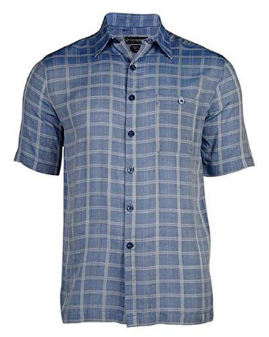 Weekender - Maro Reef, Indigo Colored Matched Pocket, Square Hem Casual Shirt