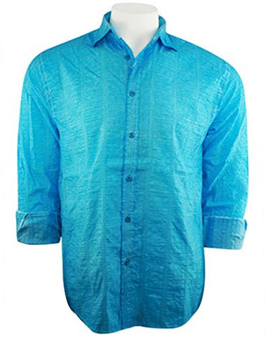 Envy Evolution - Paper Print, Button Front Lightweight Casual Men's Shirt