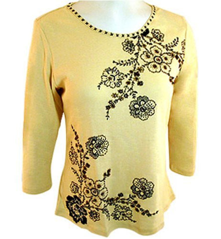 "Usindo, ""Embroidered Floral Art"" Beaded & Sequined, Hand Painted, Floral Themed"