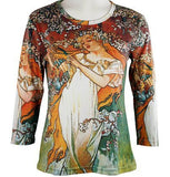 Breeke & Company Mucha - Spring Maiden Cotton MicroFiber Blend Top