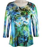 Cactus Fashion - Divine Garden, Rhinestones, Sublimation Top