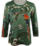 Breeke & Company - Bird on a Branch Cotton Micro Blend Top