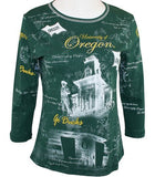 P-Michael - U of Oregon, School Colors, School Name Accented in Rhinestones