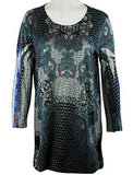 Cactus Fashion - Enchanted, 3/4 Sleeve, Printed Multi Colored Sublimation Tunic