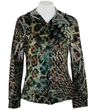 Cubism Jungle Fair, Hoodie Animal Print with Zipper & Front Pockets