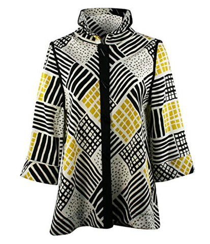 Moonlight Flexible Mandarin Collar Asian Style Button Front Womens Fashion Jacket