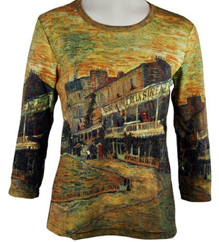 Breeke & Company - Van Gogh's Restaurant Cotton Micro Blend Top