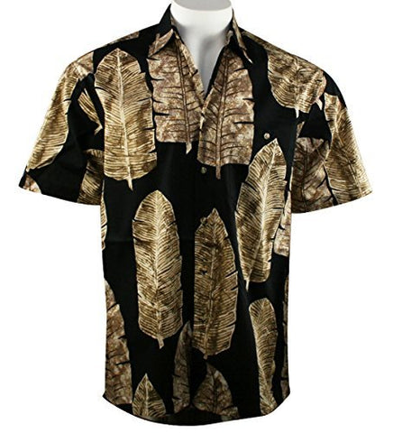 Bamboo Cay - Leaf Nation, Tropical Casual Style Lightweight Cotton Lawn Shirt