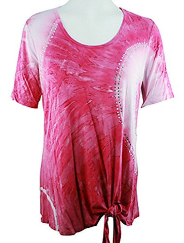 Impulse California - Passion, Short Sleeve Top with Subtle Rhinestone Accents