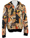 Breeke & Company Long Sleeve - Printed Cotton Micro Blend Woman's Hooded Top
