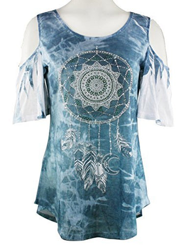 Big Bang Clothing South West Dreamcatcher, Cold Shoulder Lightweight Top