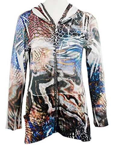 Cubism - Odyssey, Long Sleeve Hoodie, Multi-Colored Abstract Geometric Print