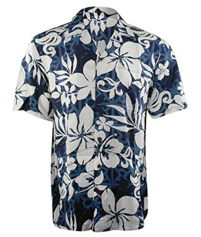 Kalaheo RJC Hawaiian Flowers Single Pocket Classic Button Front Casual Tropical Shirt