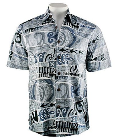 Kahala Sportswear Pacific Beat, Relaxed Fit, Matched Pocket Hawaiian Shirt
