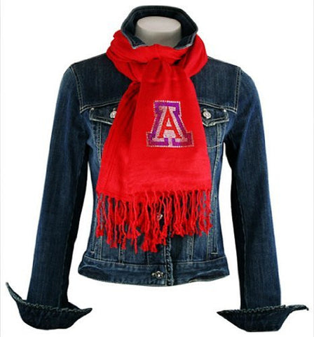 Collegiate Fashionista University of Arizona Pashmina, Rhinestone School Logo