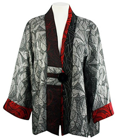 Moonlight - Classic Asian Style Jacket with Trimmed Sleeves & Accented Collar