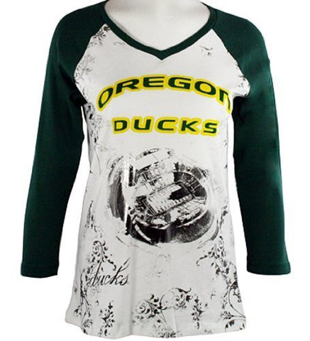 P-Michael - U of Oregon Top, School Colors, School Name Highlighted in Foil