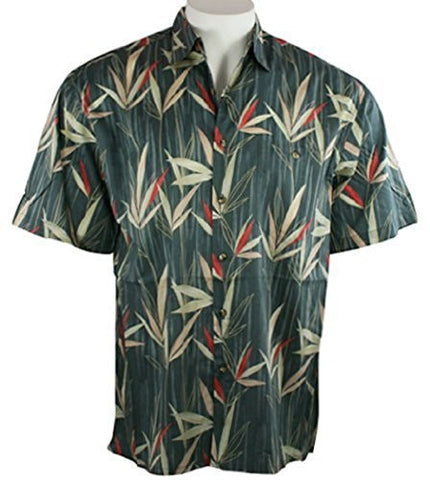 Bamboo Cay - Bamboo Leaves, Moisture Wicking Button Front Shirt