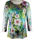 Cactus Fashion - Floral & Fauna, Rhinestones, Sublimation Top