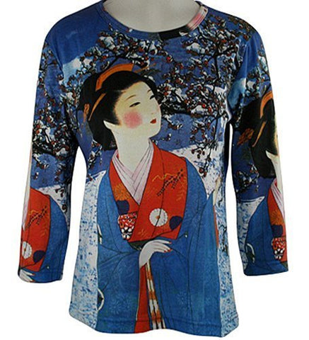 Breeke & Company - Winter Geisha Cotton Micro Blend Top