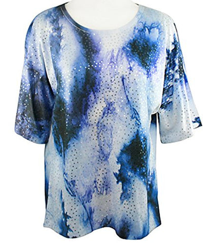 Jess & Jane - Marbles, Peek-a-Boo, Cold Shoulder Scoop Neck Sequin Top