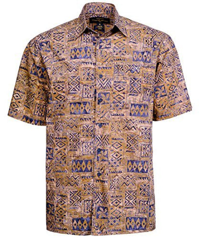 Peter Huntington - Sumbawa Island Single Pocket Handcrafted Brown Navy Shirt