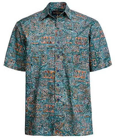 Peter Huntington - Olive Brown Sumbawa Island Single Pocket Handcrafted Shirt