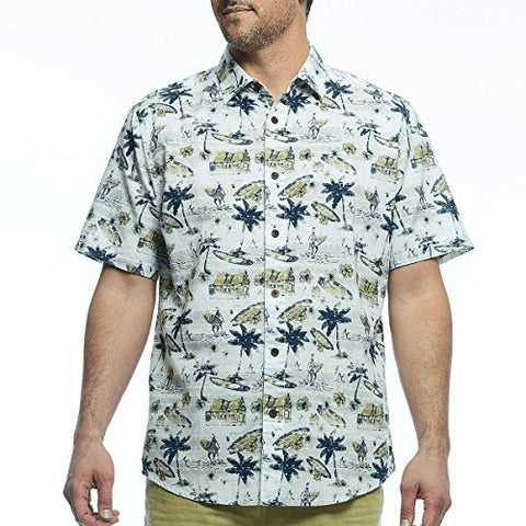 Margaritaville - North Shore, Short Sleeve Men's Tropical Print Casual Shirt